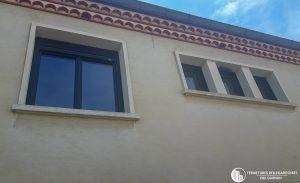 Fenêtres aluminium gris anthracite RAL 7016