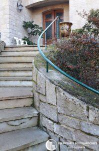 Rampe d'accès pour escalier extérieure en courbe à Albi 81000