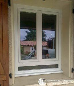 Grande fenêtre PVC avec allège vitrée