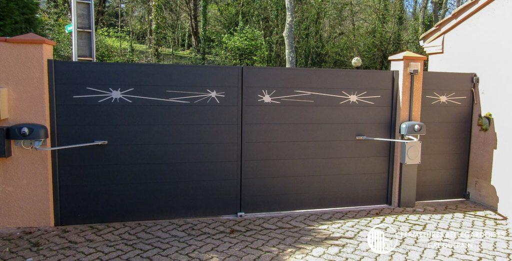portail premium en aluminium fabrique par claustralu