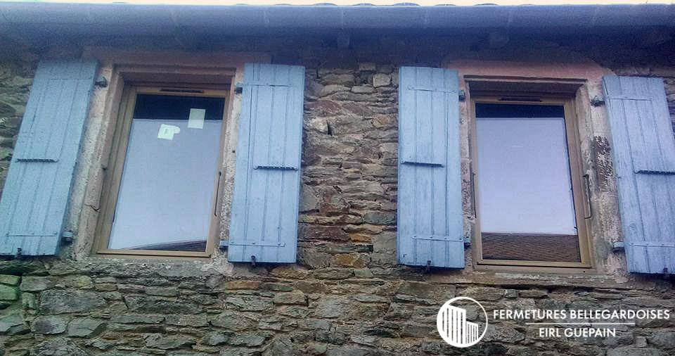 Rénovation ancienne maison sur Miolles (81250) fenêtres bois