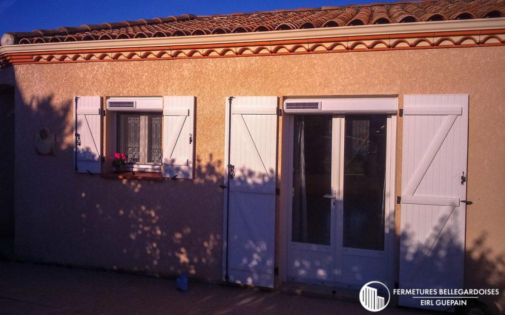 Rénovation volets motorisation solaire pour maison traditionnelle